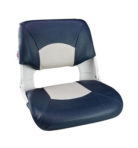 Сиденье мягкое складное Skipper, сине-белое