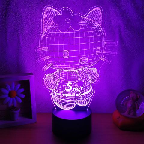 Лампа Hello Kitty 3D (текст ваш)