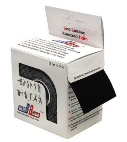 BBtape кинезио тейп 5см х 5м (черный)