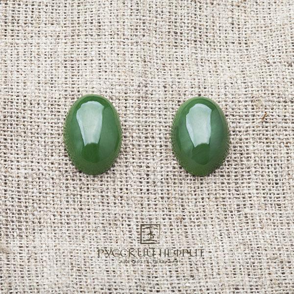 Вставки Кабошон овальный 16мм х 12мм. Зелёный нефрит (класс бриле). kabashon15_5x11_5x6_5_brile.jpg