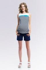 Шорты для беременных цвет темно - синий