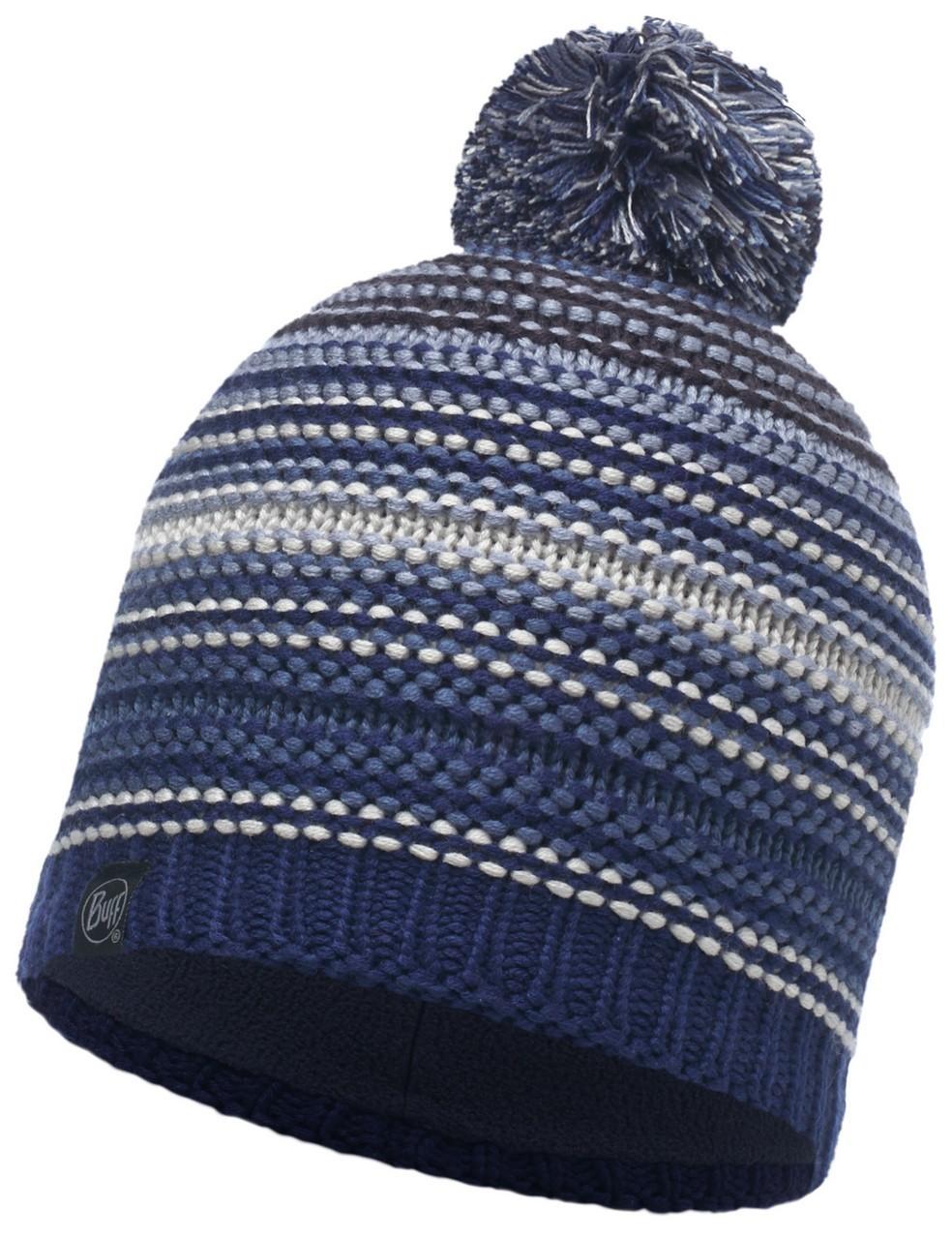 Шапки с помпоном Вязаная шапка с флисовой подкладкой Buff Neper Blue Ink 113586.752.10.00.jpg