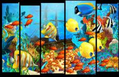 """Модульная картина """"Море в красках"""""""