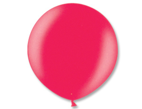 Большой шар металлик красный