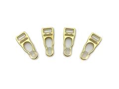 Застежки для чулок золото 10 мм (4 шт)