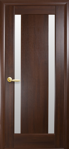 Дверь Босса (каштан, остекленная ПВХ), фабрика Новый Стиль