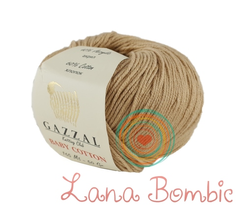 Пряжа Gazzal Baby Cotton 3424 беж
