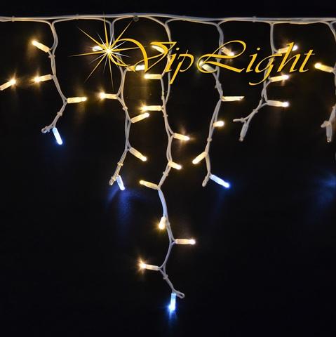 Уличная фасадная бахрома 3 м на 0,7 LED теплый белый цвет