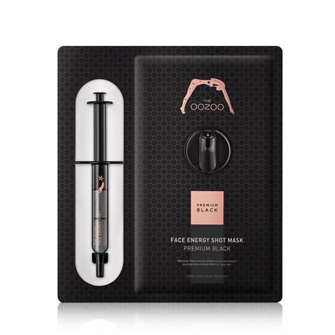 THE OOZOO Маска с черным женьшенем и кератиназой Face Energy Shot Mask Premium Black