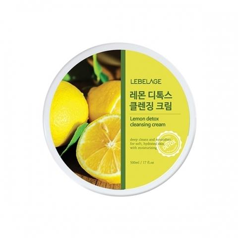 Очищающий крем LEBELAGE LEMON Detox Cleansing Cream 500ml