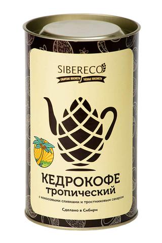 Sibereco Кедрокофе Тропический с кокосовыми сливками и тростниковым сахаром Тубус 500г