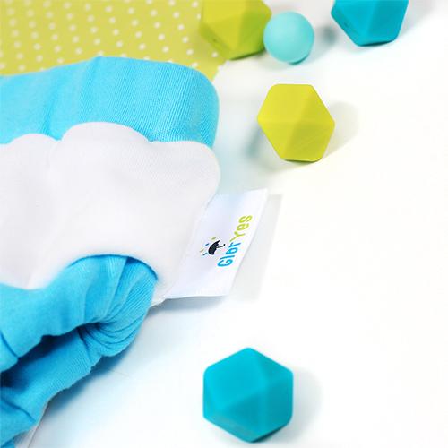 Хлопковые трусики для приучения к горшку GlorYes! Бело-голубые L 14-20 кг