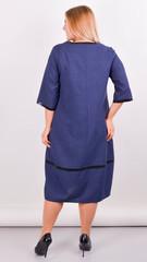 Таис. Платье для женщин плюс сайз. Синий.