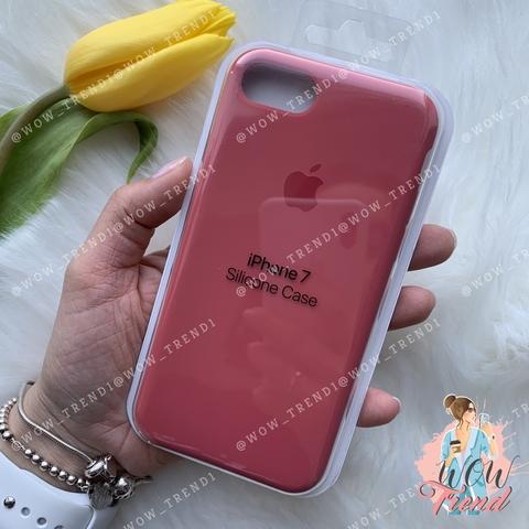 Чехол iPhone 7/8 Silicone Case /camellia/ винный original quality