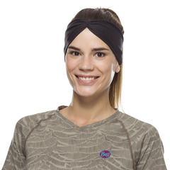 Повязка-чалма летняя Buff Headband Tapered CoolNet Solid Black