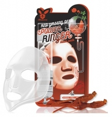 Тканевая маска для лица с Красным женьшенем, ELIZAVECCA, Red Ginseng Deep Power Ringer Mask Pack, 23 мл