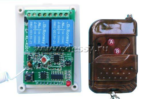 Выключатель дистанционный RC-2-12-K201X на 2 канала на радиочастоте