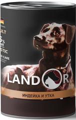 Консервы для собак, Landor, с индейкой и уткой