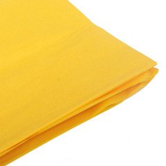 Бумага тишью, ярко-желтая 76 Х 50 см, 10 листов 28 г/м