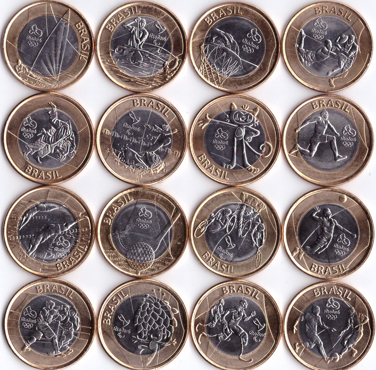 """Набор """"Олимпиада в РИО"""" 16 монет. 2016 год"""