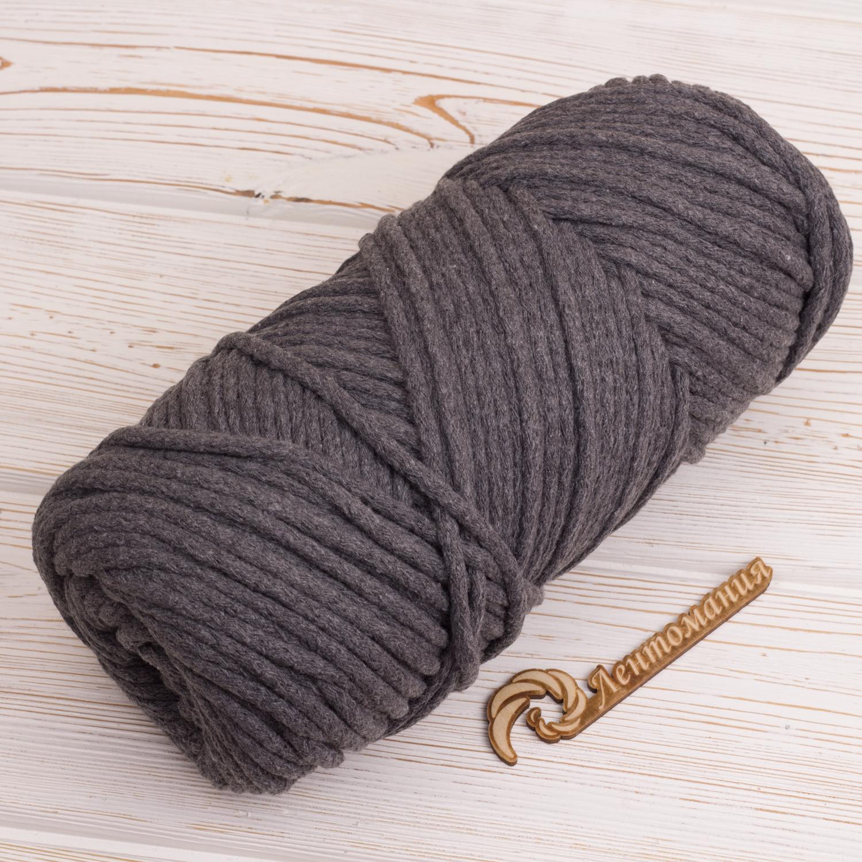 Хлопковый шнур Шнур 5мм  Темно-серый IMG_4311.JPG