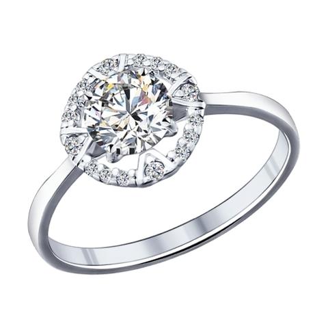 94011702- Кольцо из серебра с фианитами от SOKOLOV