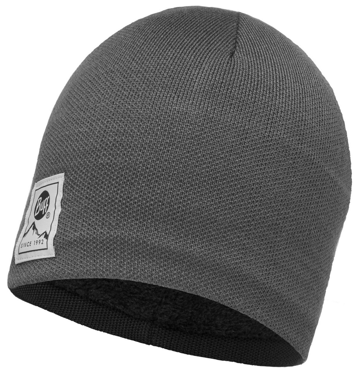 Шапки средней вязки Вязаная шапка с флисовой подкладкой Buff Solid Grey Castlerock 113519.929.10.00.jpg
