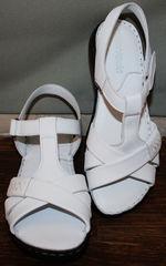 Женские кожаные сандалии Evromoda 15 White.