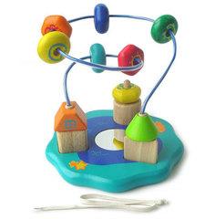 I'm Toy Логическая деревянная игрушка с лабиринтом и шнуровкой (22018)