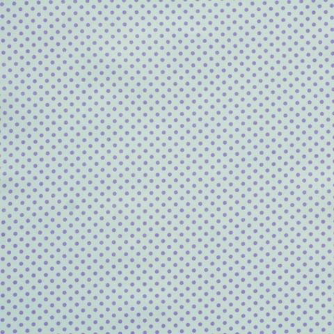 Ткань хлопковая сиреневые горошки на белом, отрез 50*80 см
