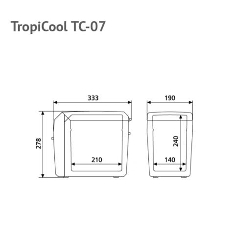 Автохолодильник Dometic TropiCool TC-07, 7л, охл./нагр., пит. (12/230V)