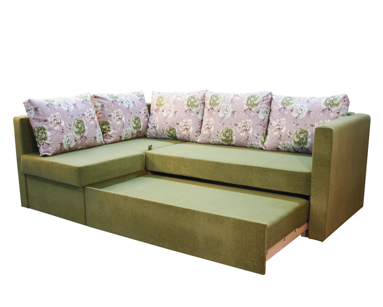 Угловой диван-кровать Карелия 2Я2д, механизм трансформации Дельфин