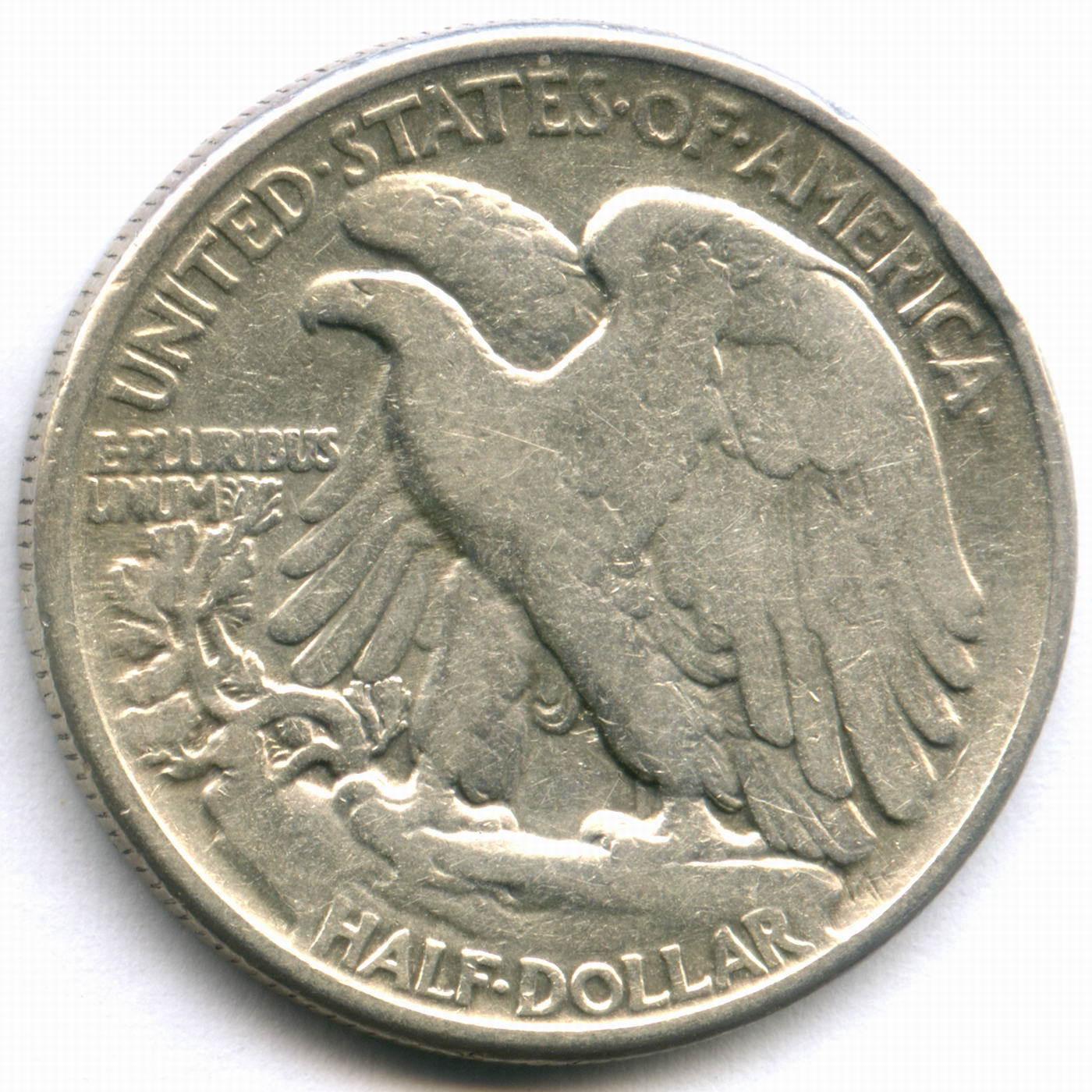 1/2 доллара 1945. США F (Шагающая Cвобода)