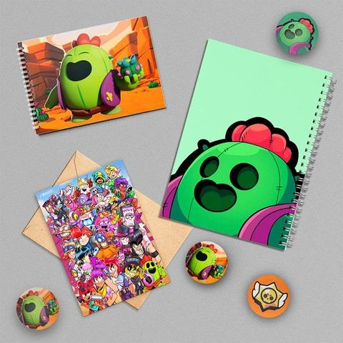 Спайк: набор из тетради, блокнота, открытки, 3 значков и стикера