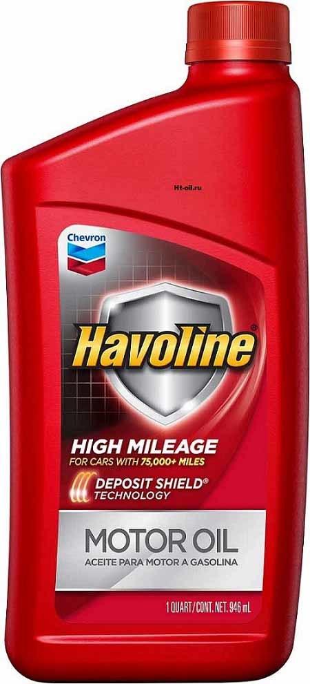 HAVOLINE HIGH MILEAGE 5W-30 моторное масло для бензиновых двигателей Chevron (1 литр)
