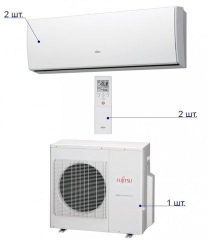 Мульти-сплит система Fujitsu AOYG18LAC2/ASYG09LUCA*2шт