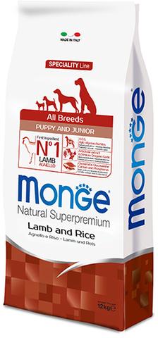 Monge Dog Speciality Puppy&Junior корм для щенков всех пород с ягненком и рисом 12 кг