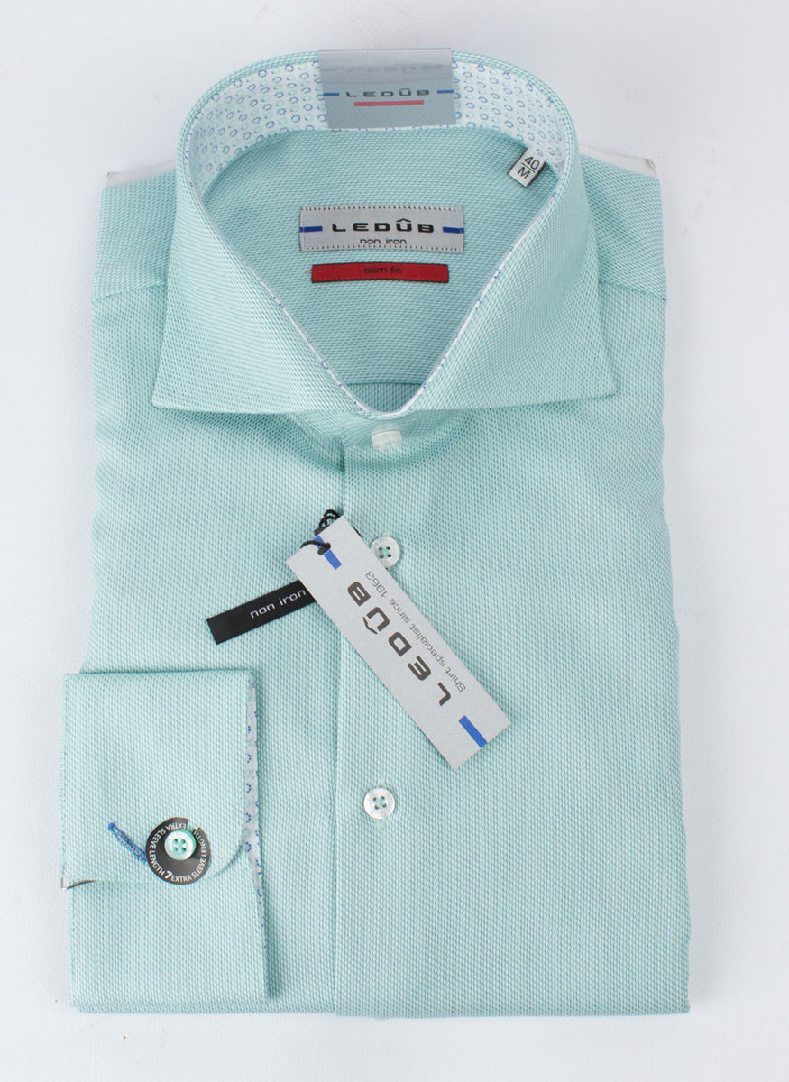 Рубашка Ledub slim fit 0135809-520-520-SF-Green light