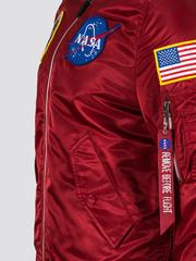 Бомбер Alpha Industries L-2B NASA Commander Red (Красный)