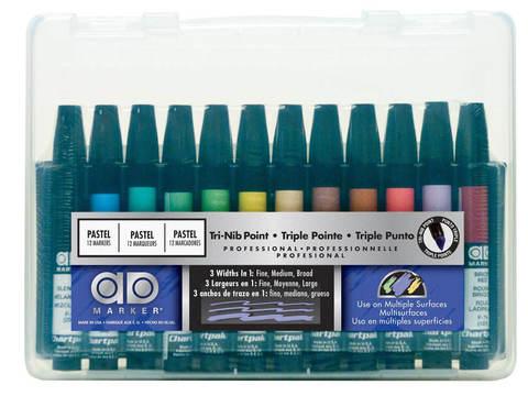 Набор маркеров CHARTPAK PORTRAIT Plastic box, портрет, 12 цветов