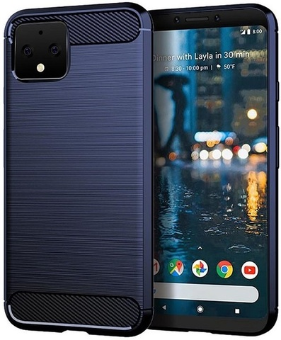 Чехол Google Pixel 4 цвет Blue (синий), серия Carbon, Caseport