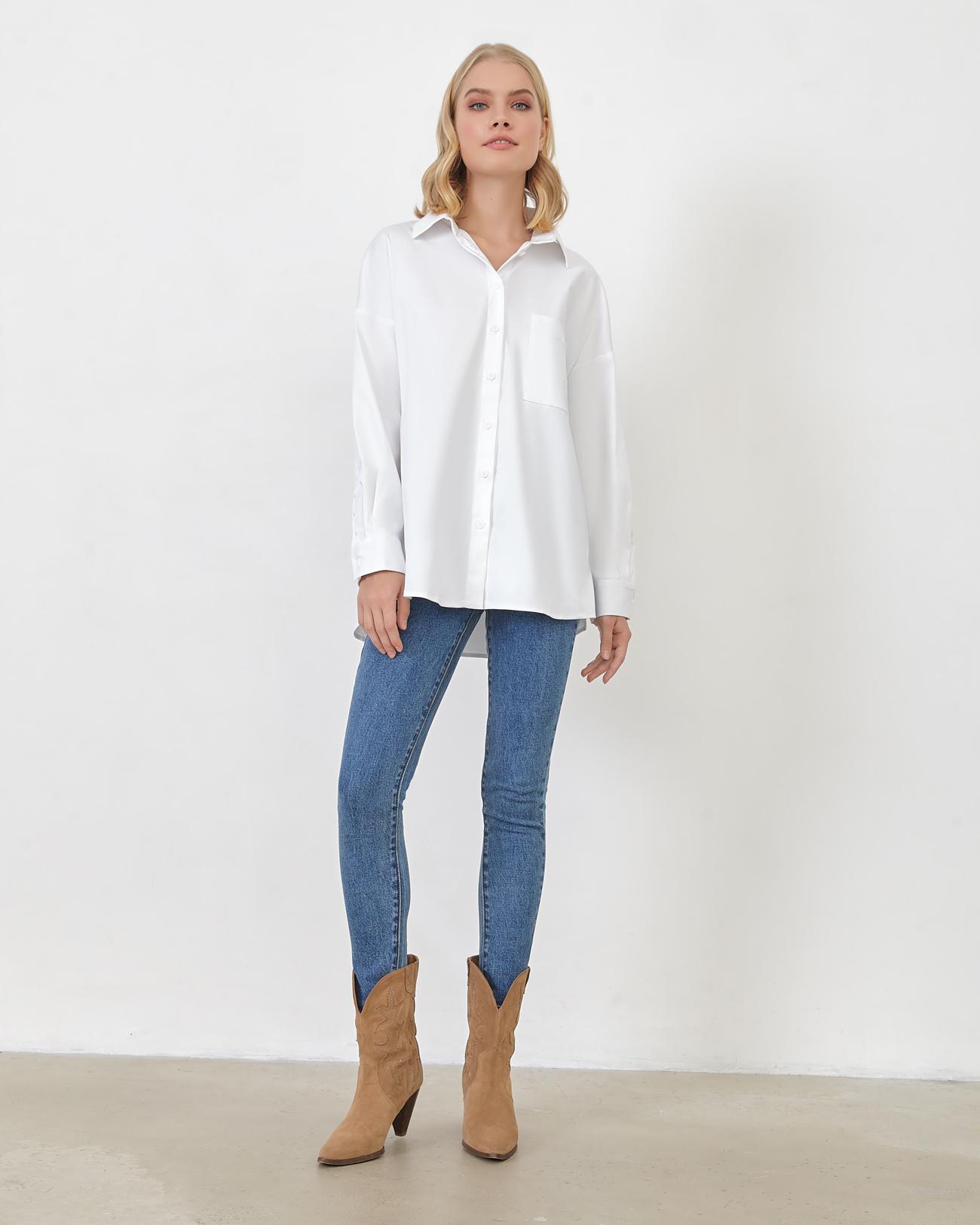 Рубашка из плотного хлопка фото