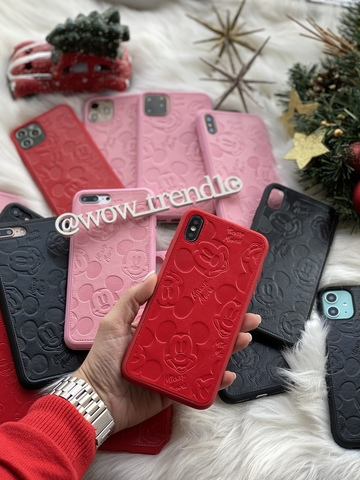 Чехол iPhone Mickey Mouse Leather
