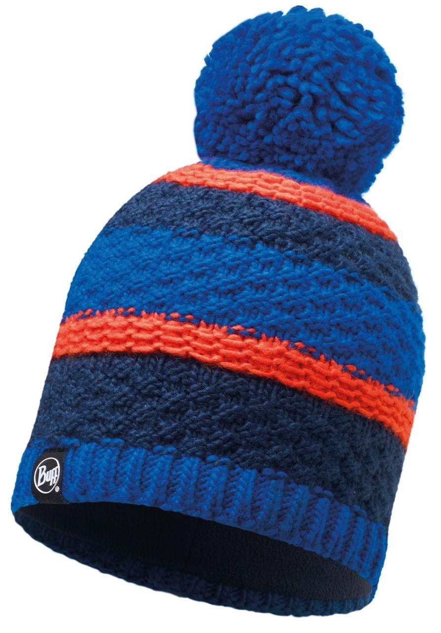 Шапки с помпоном Вязаная шапка с флисовой подкладкой Buff Fizz Blue Skydiver 116006.703.10.00.jpg