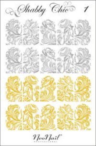 Трафарет для дизайна Shabby Chic 01 комбинированный