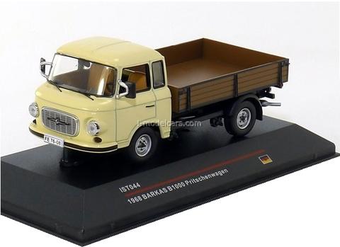 Barkas B1000 Pritschenwagen Pick-Up dark beige 1968 IST044 IST Models 1:43