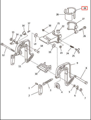 Втулка дейдвуда разрезная  для лодочного мотора T2,5 SEA-PRO (6-28)