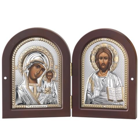 Складень Казанская Икона и Спаситель (20х15см)