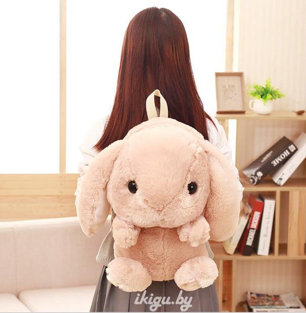 Игрушки с пледом Рюкзачок Кролик Желтый bag_rabbit2.jpg