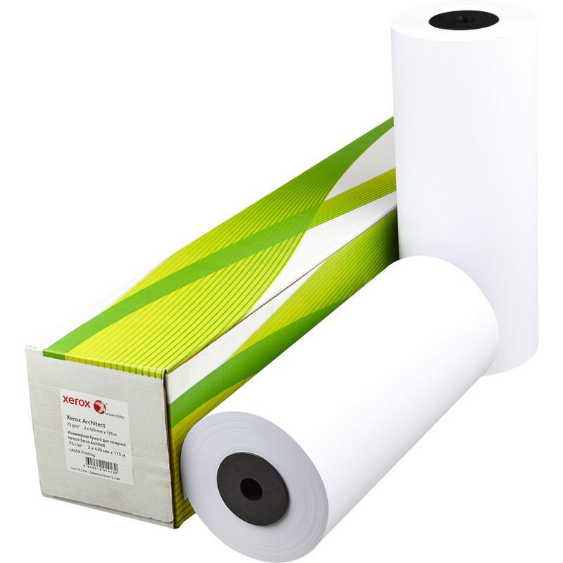 Бумага широкоформатная Xerox Architect (длина 175 м, ширина 420 мм, плотность 75 г/кв.м, белизна 170% CIE, диаметр втулки 76 мм)